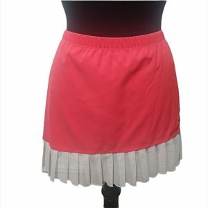 Nike tennis skirt  Pink with lace trim. Size: L